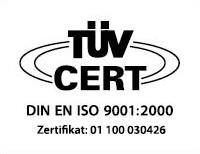 TÜV Zertifiziert nach DIN EN ISO 9001:2000